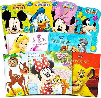 Juego De 9 Libros De Disney Mickey Minnie Mouse Para Niños Pequeños Paquete De 9 Libros De Disney Con Mickey Mouse Minnie Mouse Goofy Donald Duck Y Más Toys Games