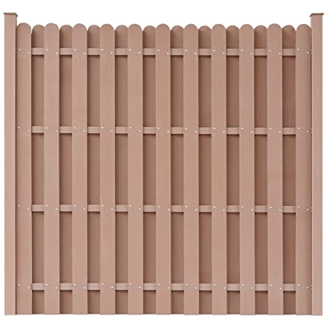 Superieur WPC Square Fence Panels, Garden Wall Outdoor Patio Barrier Brown W/ Posts