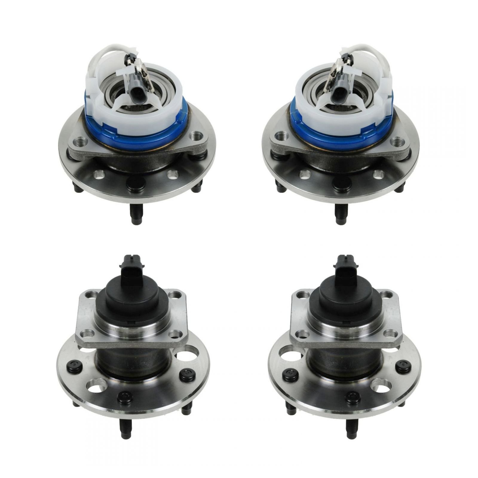 Wheel Bearing & Hub Front & Rear Assembly Kit Set of 4 for Chevy Olds Pontiac