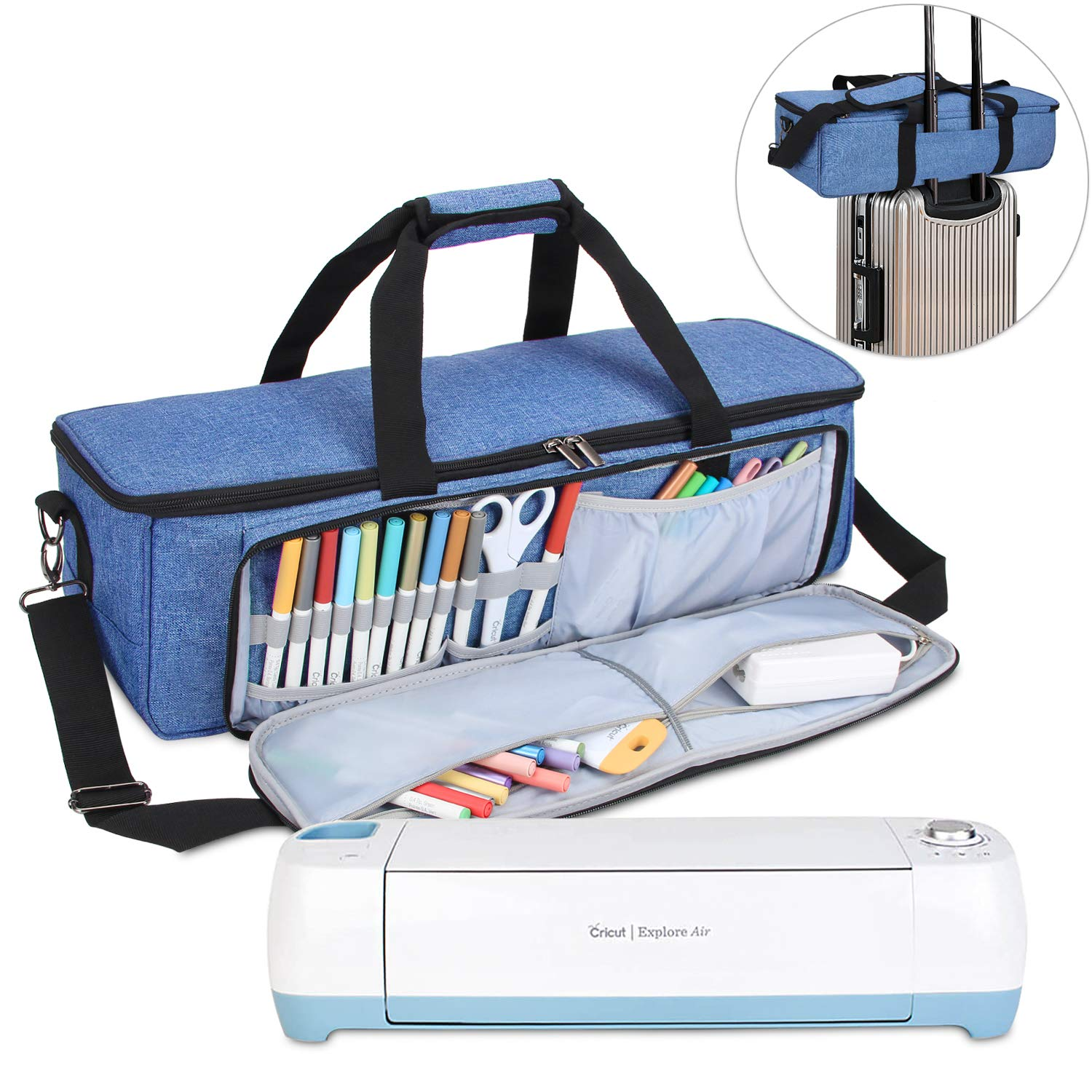 and Maker Bag Only, Patent Pending Air2 Tote Bag Compatible with Cricut Explore Air Gray Dots Luxja Carrying Bag Compatible with Cricut Die-Cutting Machine and Supplies