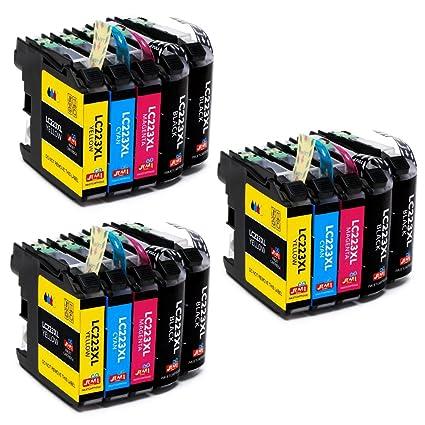 JIMIGO LC223 Cartuchos de Tinta Brother LC 223 Tinta Compatible para Brother J480DW J562DW J4420DW J5320DW J880DW J4620DW J4120DW (6 Negro, 3 Cian, 3 ...