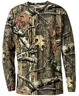 Générique Hommes Imprimé Jungle Camouflage Manche Courte T-Shirt Camo Chasse Regular et Plus Size Top (5XL, Jungle Imprimé Manche Longue)