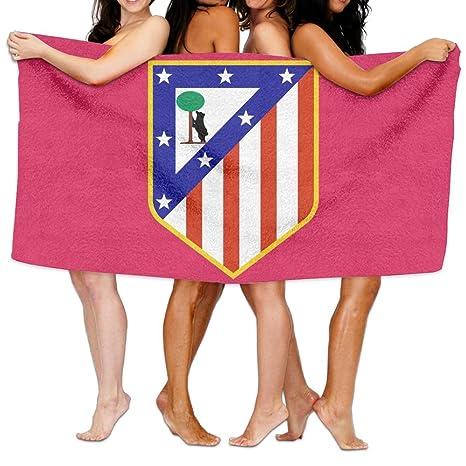 Atlético de Madrid 100% poliéster terciopelo absorbente toalla de baño para camping, Gimnasio,