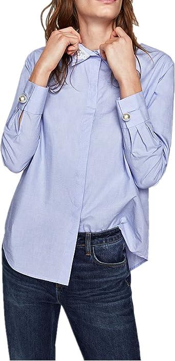Z&S - Camisas - para mujer Azul azul celeste Taille unique: Amazon.es: Ropa y accesorios
