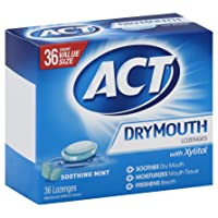 Deals on ACT Dry Mouth Lozenges Soothing Mint with Xylitol 36-Count