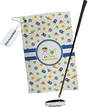 Boy s espacial toalla de Golf Set de regalo (personalizado)