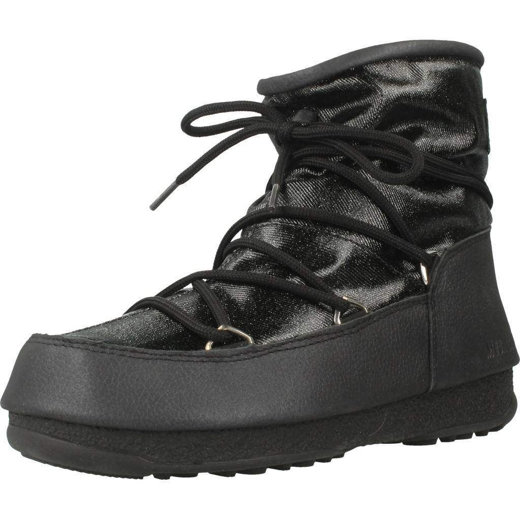 Moon Boot W.e. Low Glitter, Botas de Nieve para Mujer37 EU|Negro