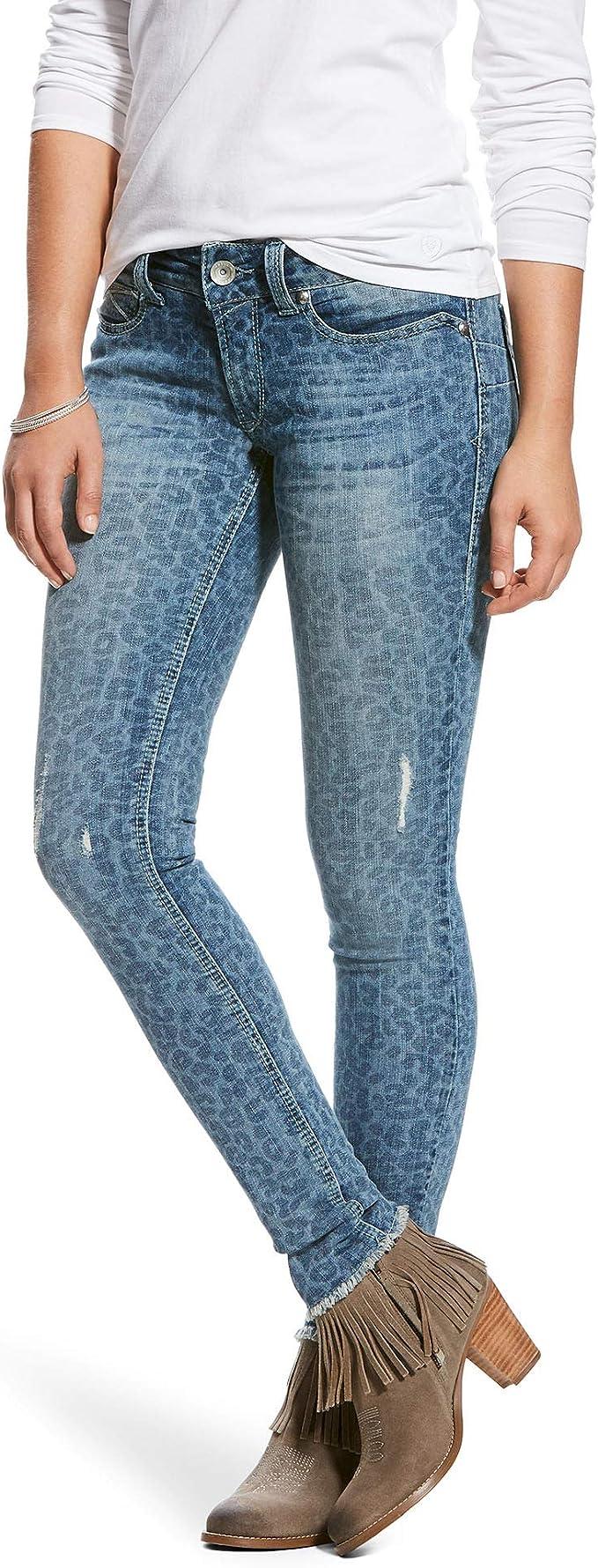 Ariat Womens Mid Rise Skinny 25 R Leopard