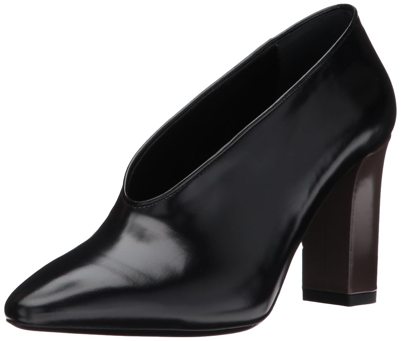Via Spiga Women's Baran Block Heel Pump B06XGR8Y69 9 B(M) US|Black Leather