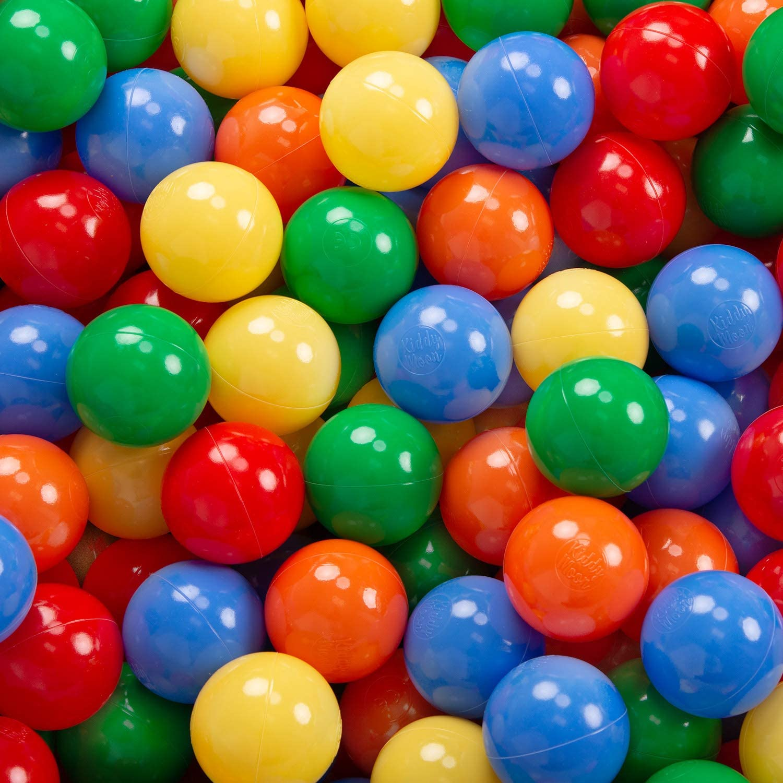 KiddyMoon B/ällebad 90X30cm//KEINE B/älle B/ällepool Mit B/ällen /∅ 7Cm F/ür Babys Kinder Viertel Eckig Dunkelblau:Hgr/ün//Gelb//T/ürkis//Orange//Dpink//Violett