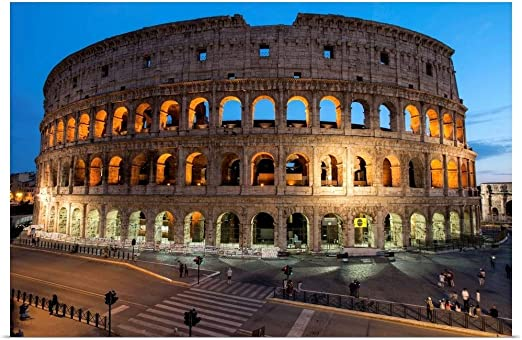 """Poster 24/"""" x 16/"""" Colosseum in Rome Italy"""