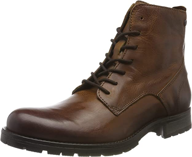Jack & Jones Jfworca Leather Boot Cognac Noos, Botas Clasicas para Hombre