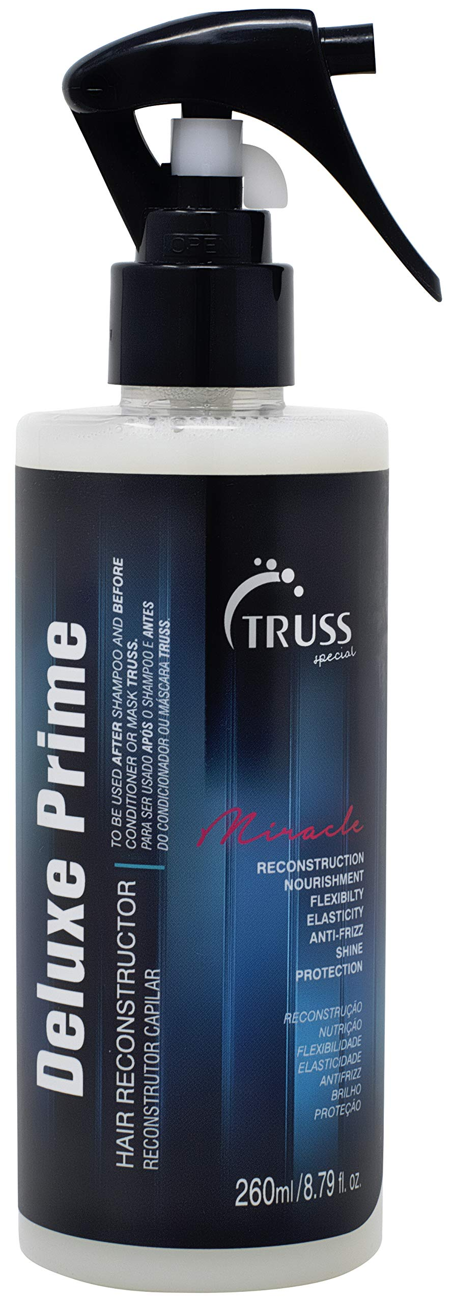 TRUSS Deluxe Prime Hair Treatment - Protein Infused Heat Protectant Spray - Leave In Conditioner,
