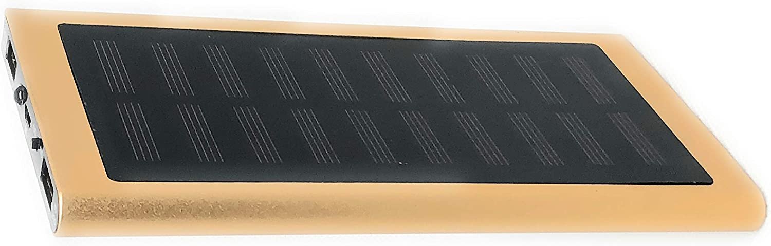 Auxilius Brand 1pc Solar Charger Solar Power Bank 20000mAh Portable External Backup Outdoor Cell Phone Battery Charger with LED Flashlights Solar Panel Gold, Black, Silver, Blue, or Pink Gold