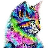 UEB Colorful Cat 5D Diamond DIY Painting Craft Kit Home Decor 30*30cm