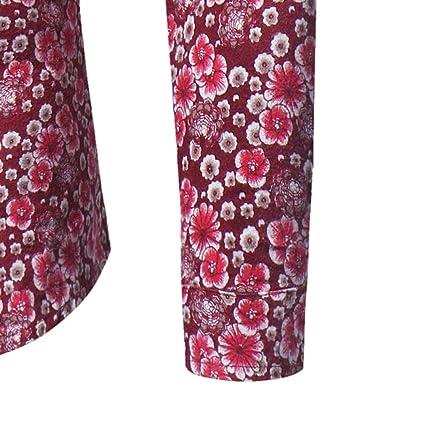 Herren-Hemd URSING Männer Retro Floral Bedruckt Bluse Beiläufig Slim Fit  Tops Langarmhemd Business Freizeit Hochzeit Langarm Hemden für Männer  Trachtenhemd ... 5b7b1ccdc6