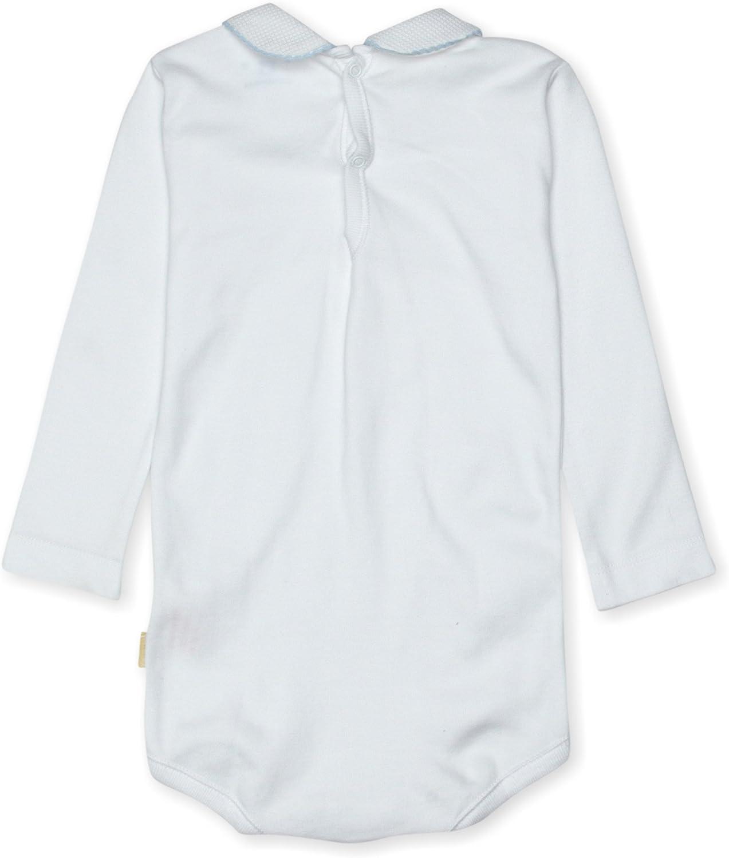 Cambrass Unisex Baby Round Croquet Edge Collar Long Sleeve Bodysuit