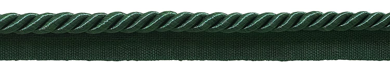 DecoPro 10 Yard Value Pack of Medium 5/16 Basic Trim Lip Cord Style# 0516S Color: HUNTER GREEN - G10 (30 Ft / 9.1 Meters)