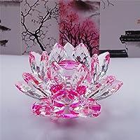Bouquet de fleurs de lotus en cristal - Grande taille - Artisanat - Décoration pour la maison - De toutes les couleurs - Cadeau pour un anniversaire, un mariage