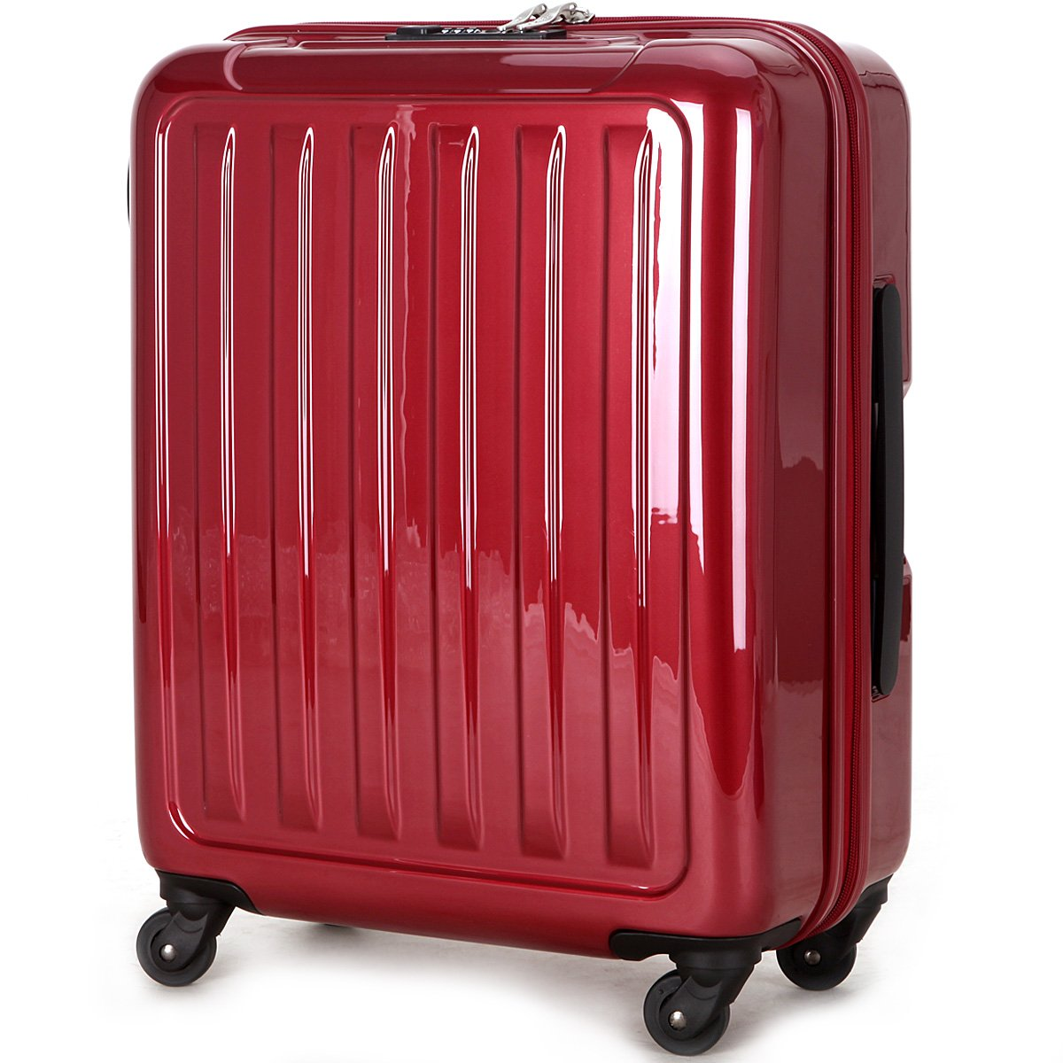 (ラッキーパンダ) Luckypanda 一年修理保証付 TY8048 スーツケース 機内持込 超軽量 40l 大容量 tsaロック B00YBV0ZYK カーマイン カーマイン