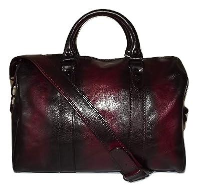 ae0b5ef0f3d7e0 I Medici of Florence Women's Vintage Italian Leather Satchel Handbag Antique  Merlot: Handbags: Amazon.com