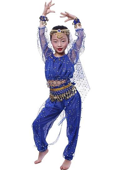 Amazoncom Astage Girls Belly Dance Costumeslong Sleeve