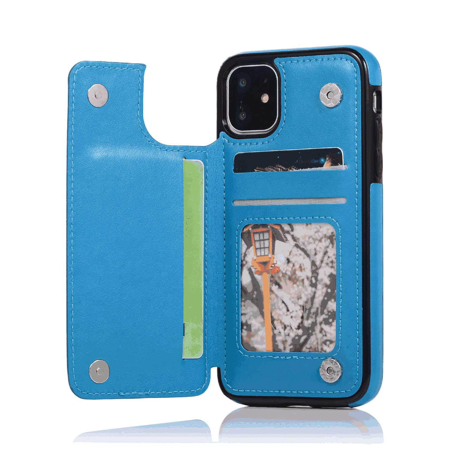 Cover for Leather Kickstand Extra-Shockproof Business Card Holders Cell Phone Cover Flip Cover Samsung Galaxy S9 Plus Flip Case