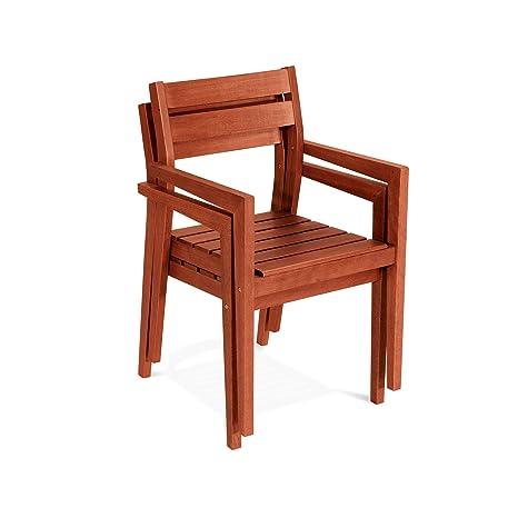 Chaise en bois 82 x 56 x 51 cm mod.Violet, chaise empilable ...