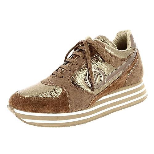 No Name - Plataforma Mujer, Dorado (marrón), 41: Amazon.es: Zapatos y complementos