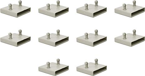 53 mm - Tapas para soportes de láminas de metal (2 puntas (paquete de 10)