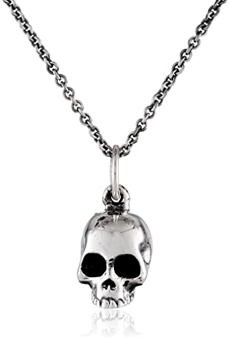 9bb877136 King Baby Micro Skull on Micro Rolo Chain Pendant Necklace, 18 ...