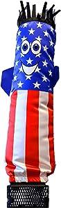 LookOurWay Mini Air Dancers Inflatable Tube Man Set Desktop Size, American Flag