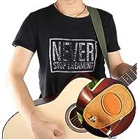 Correia de violão acústica de material de couro duplo falso, Correia de guitarra de comprimento ajustável, robusta e…