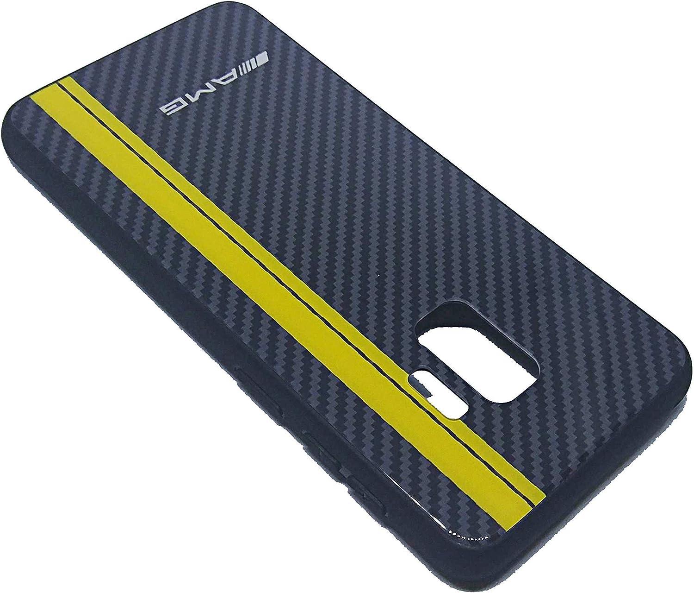 Coque DE Portable DE Silicone ET Cristal AMG Etui DE Portable Type Fibre DE Carbone Samsung S9