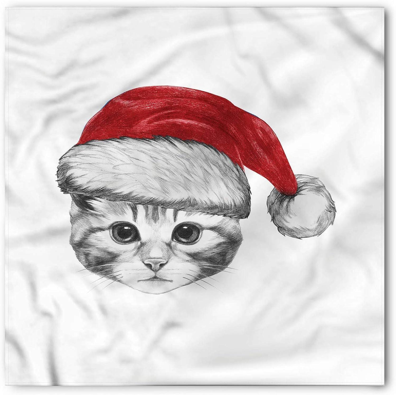 Pañuelo de Navidad, Sombrero de Santa Gatito Dulce, Cabeza Unisex ...