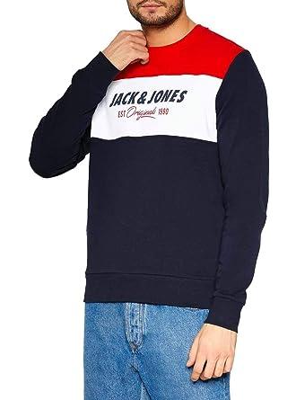 Sudadera Jack and Jones Shake Crew Marino Hombre: Amazon.es: Ropa y accesorios