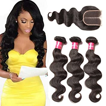 Amazon Com Longqi Beauty 3 Bundles Wavy Hair Brazilian Virgin Body