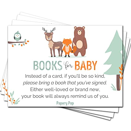 Amazon 50 Books For Baby Shower Request Cards For Boy Or Girl
