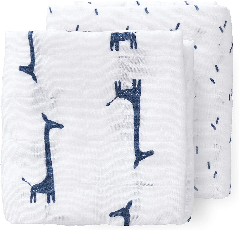 Set de 2 Fresk pa/ños de gasa 70 x 60 cm con motivos de perro basset