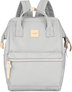 Himawari Travel School Backpack with USB Charging Port 15.6 Inch Doctor Work Bag for Women&Men College Students(1881-Grey)