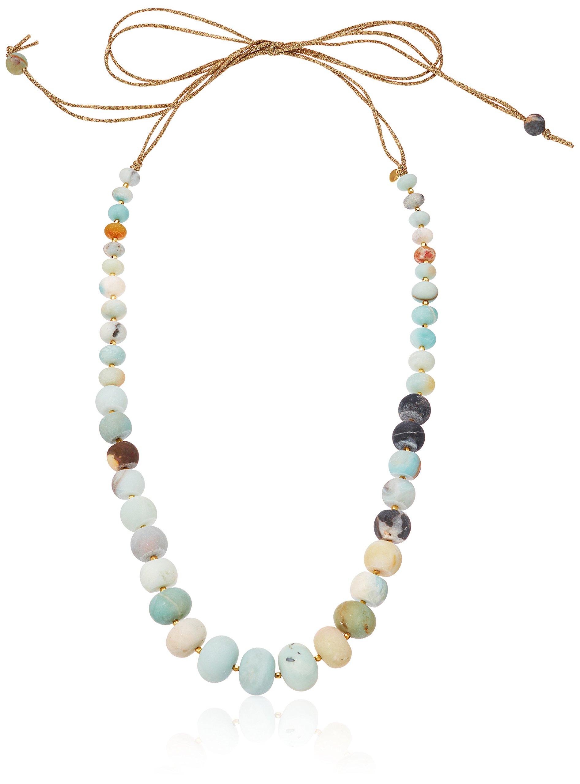 Chan Luu Self Tie Stone Strand Necklace, 58''