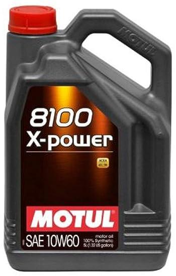 Amazon.com: MOTUL aceite sintético de motor 8100 10 W60 X ...