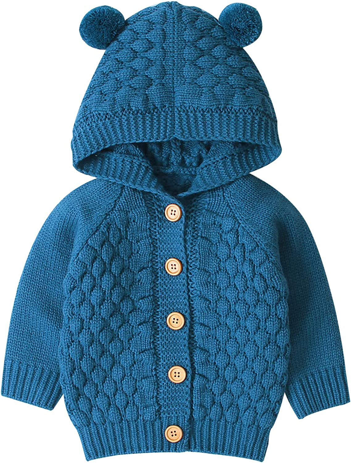Baby Girls Knit Sweater Hoodies Warm Tops Toddler Infant Outerwear Coat
