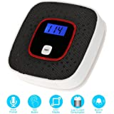 Carbon Monoxide Alarm Detector, CO Alarm Detector with Digital Display and Voice Warning Protect Your Home From Fire and Gas Leaks, Battery Powered by Upstartech (Black)