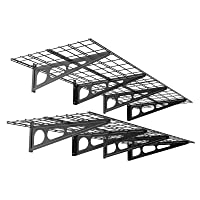 Deals on 2-Pack Fleximounts 2x6ft Garage Shelving with Hooks