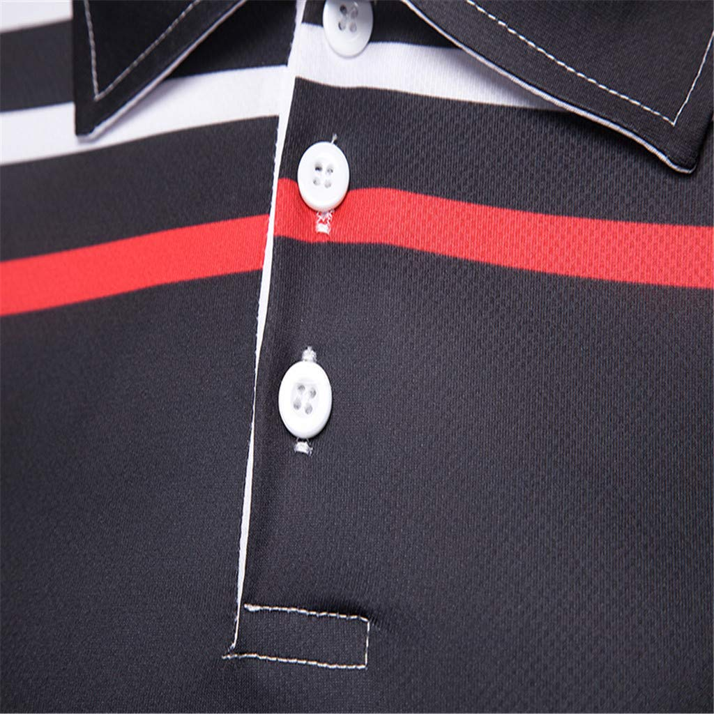 Corriee 2019 Most Wished Summer Tops for Men Leisure Short Sleeve Button Up Blouses Travel T-Shirts