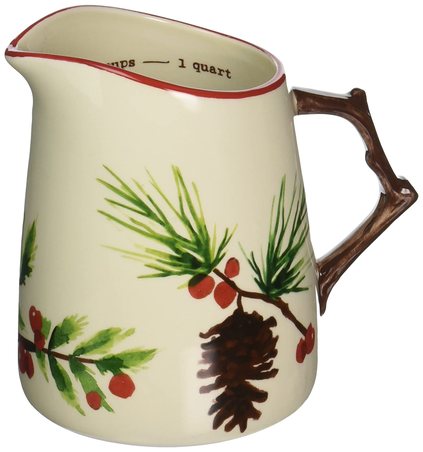 tag 204920 Greenery Measuring Pitcher, 6.03 x 4.88, Multi