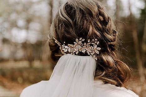 Champagne Flower Clip Gold Flower Clip Lt Gold Flower Clip Peony 3.5 Rhinestone Wedding Bridesmaid Flower Girl Prom Hair Clip Brooch Pin