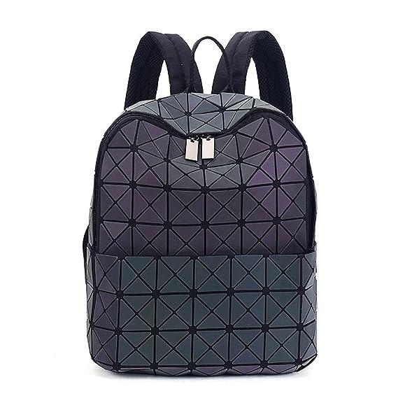 Las Mujeres Mochila Luminosa Brillante triángulo geométrico pequeño Daypack para niñas Style B: Amazon.es: Equipaje