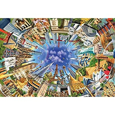Puzzle 1000 Piece Jigsaw Puzzle for Adults,Bzdthh,World Landmarks,Every Piece is Unique,Pieces Fit Together Perfectly: Toys & Games